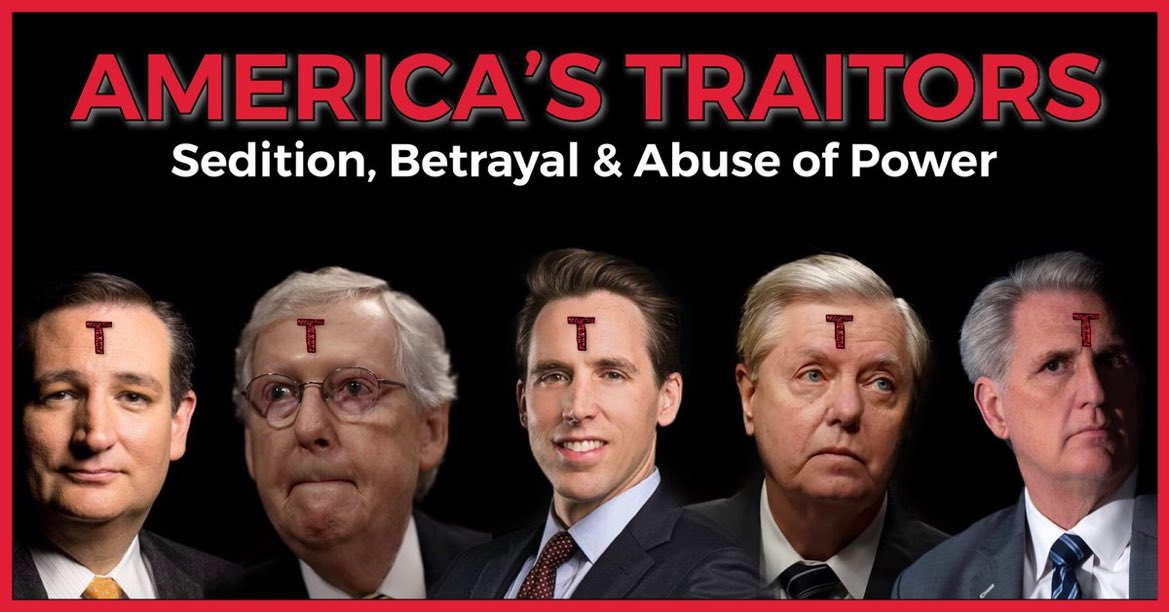This is the useless #Republican fuckers practicing their usual weekly fuckery. Traitors Belong in prison not in Washington DC working for #VladimirTheMurdererPutin and his #RussianHorde the #TrumpCrimeFamily. https://t.co/a8BnszOZy9 https://t.co/B0xdJ5q9bp