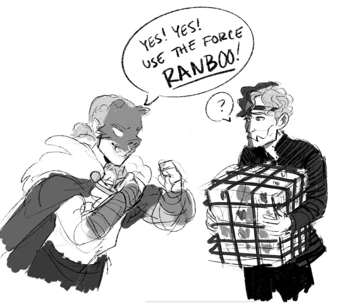 I don't know why this made me laugh so hard, but honestly all of their interactions give me life. #dreamsmpfanart #technofanart #ranboofanart
