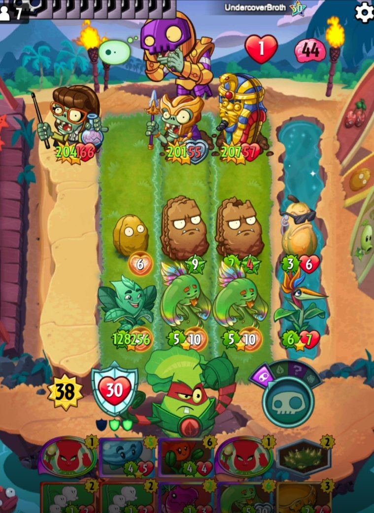 Hacker begs for mercy while getting bullied by the GODLY T-Posers in PvZ Heroes.
