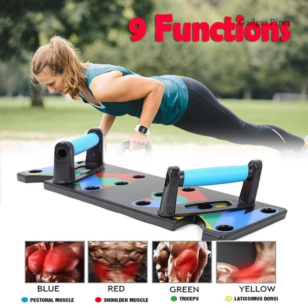 #gadgets 9 in 1 Push Up Exercise Men Women Rack Board | Body Building Fitness Exercise Stand | Home Gym Equipment
