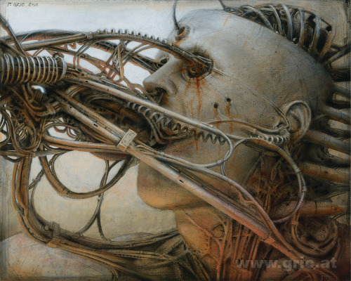 Android III by Peter Gric #cyborg #Futurism #connected #dystopian #Robotics #dimensions #steampunk