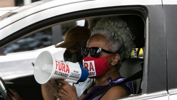 Thousands take to streets protesting Brazils Bolsonaro Photo