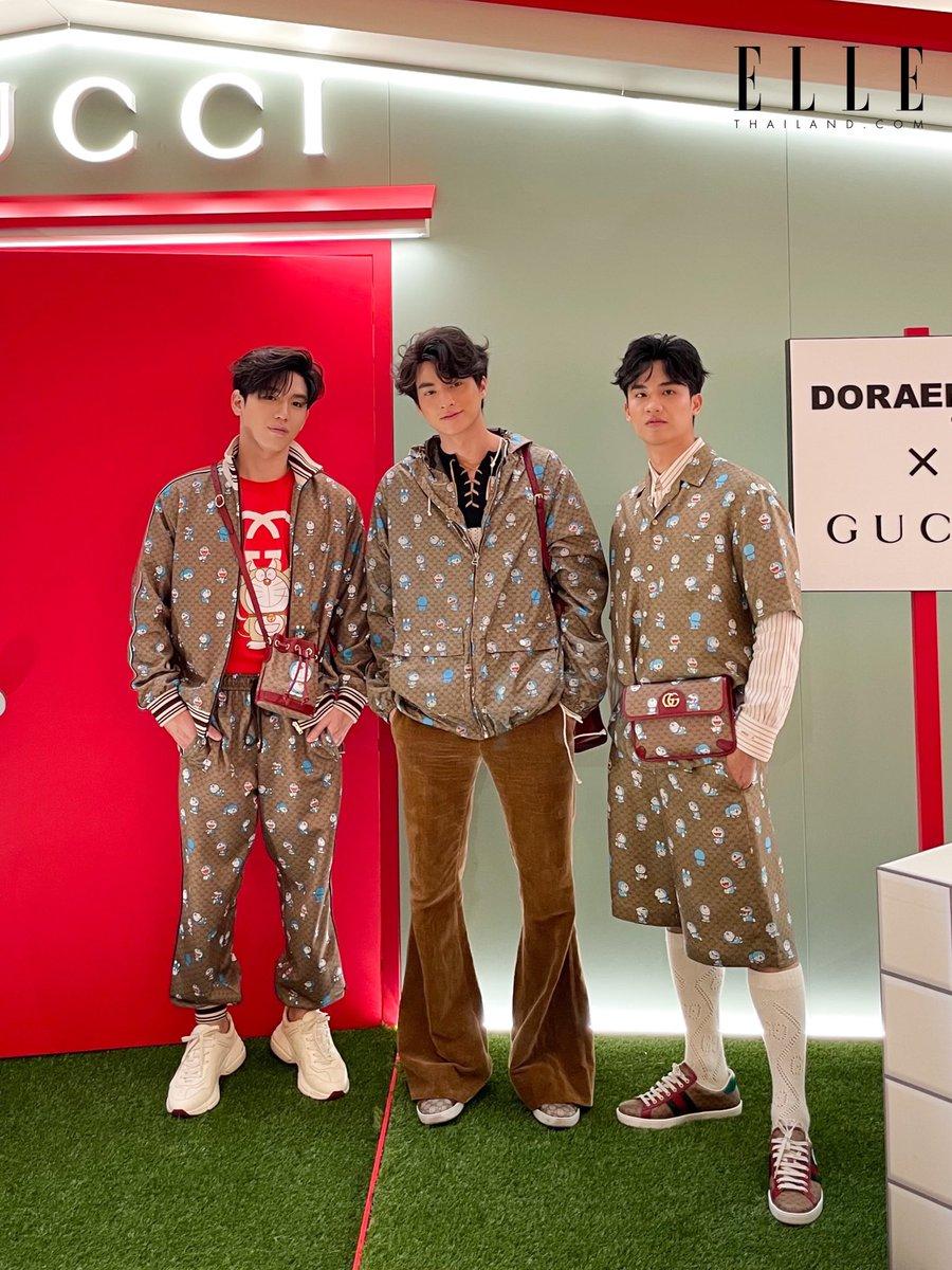 แถมภาพนิ่งของสามหนุ่มกันอีกซักหน่อย ขอเสียงแฟนๆ ของทั้งสามคนหน่อยค่า   #DoraemonxGucci #GucciPin #GulfKanawut #Taynew #เตนิว