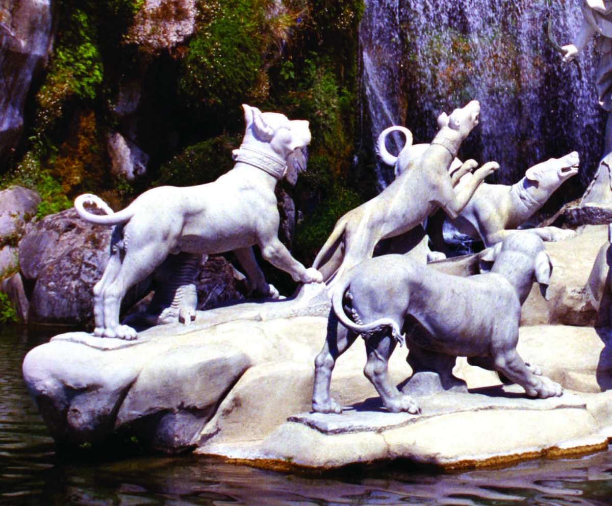 Cane Corso - Diana and Actaeon Fountain - Royal Palace of Caserta - 18th century AD #dogs #dogsoftwitter #Italia #Italy #Europe #beautiful #Twitter #Archaeology #beauty #love #art #photography #History #picoftheday #pottery