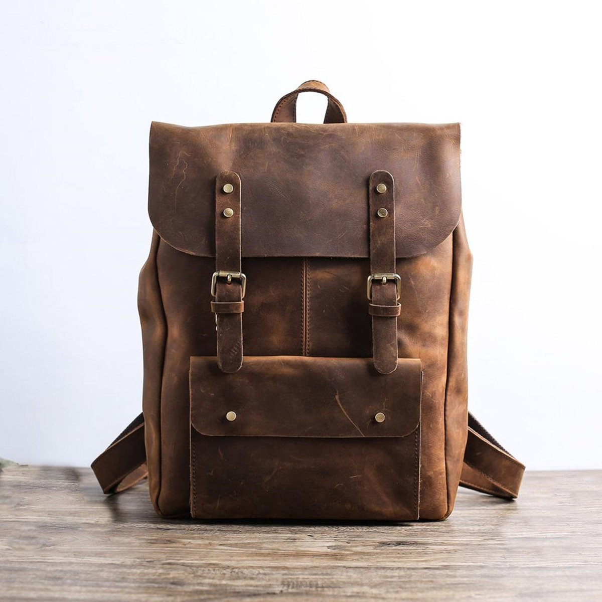 Excited to share the latest addition to my #etsy shop: Handmade Full Grain Leather School Backpack Travel Backpack Laptop Backpack Daily Backpack Personalized Leather Backpack  #brown #bachelorparty #thanksgiving #bohohippie #waxedbackpack