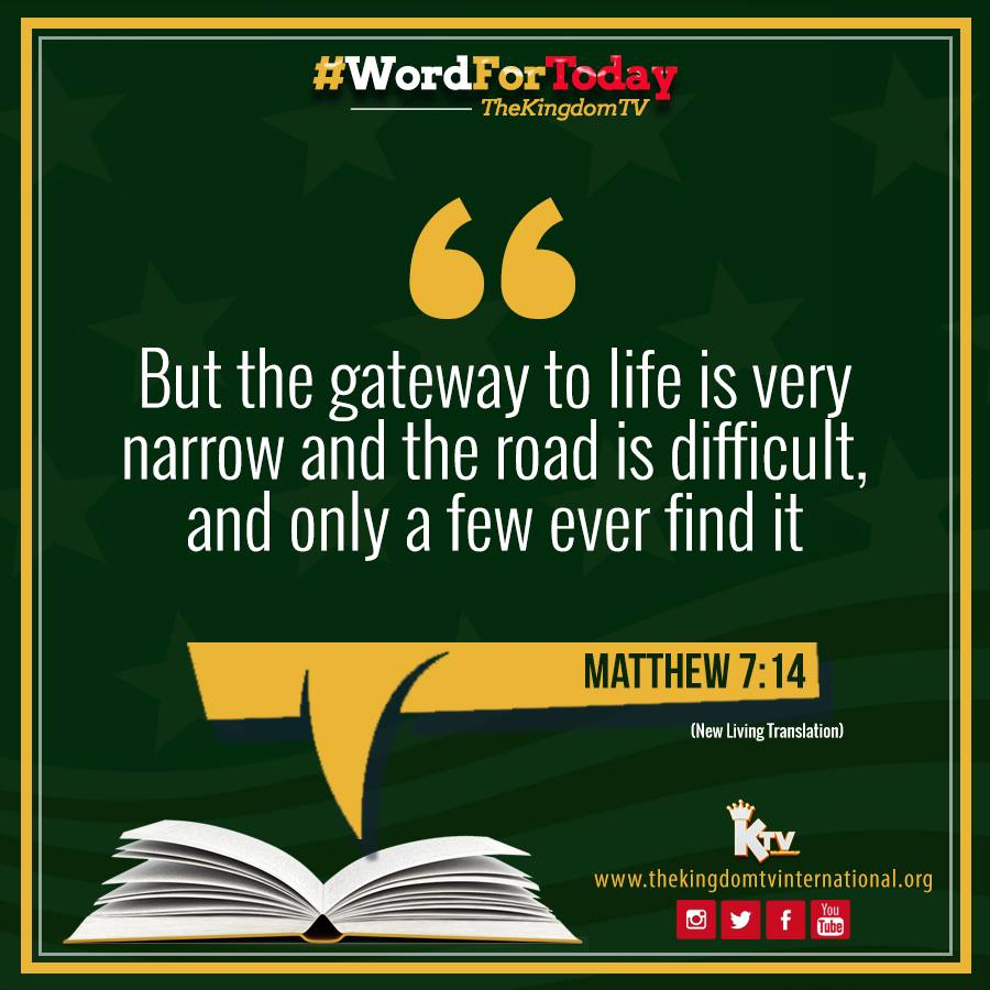 May we follow after the STRAIGHT & NARROW path that leads to God's will for our lives.  #gate #narrow #newyear #guidance #wisdom #wordfortoday #knowledge #precious #love #good #truth #understanding #christ #pray #faith #word #thewordofgod #thekingdomtv #bibleverse #bible