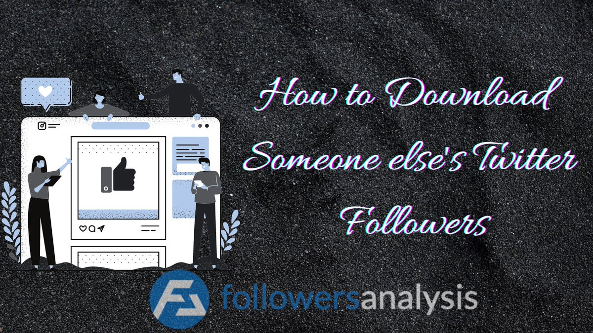 Downloading someone else's #Twitter followers allows you to analyze the targeted account's user base and identify fake followers in their account.🕵️♀️📈 Find out how to easily download someone else's Twitter followers🤔  #GrowthHacking #TwitterTips