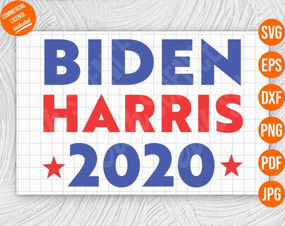 Biden Harris 2020 SVG Joe Kamala SVG Cut File  #bidenharris2020 #democrat #byedon2020svg #ridinwithbidensvg
