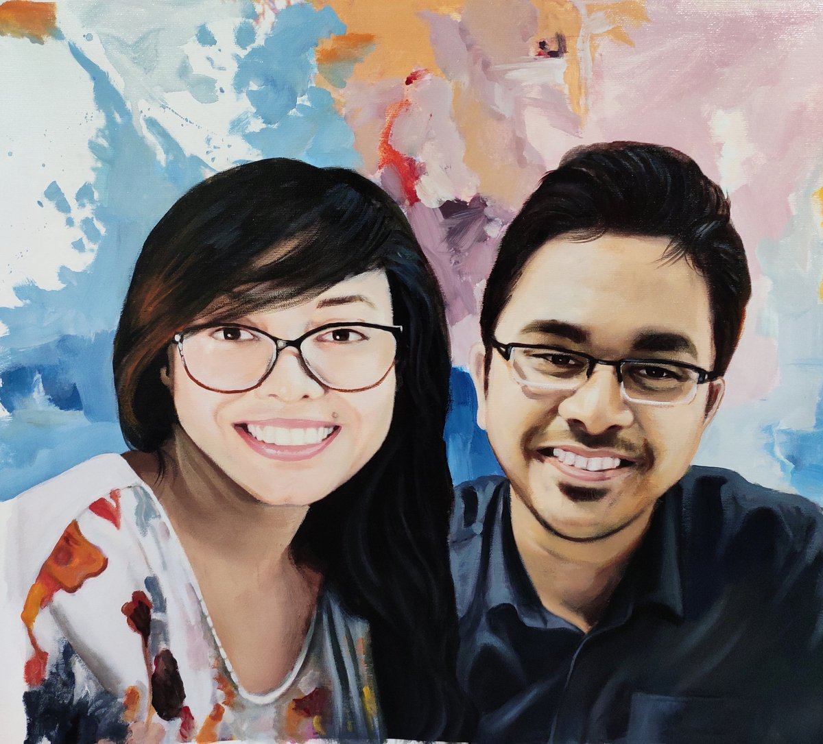 Take my breath away! Oil portrait painting on canvas Size: 20 inches x 16 inches A Valentines day gift to remember. Have you got yours? 🤔   #love #romance #lifeisbeautiful #photooftheday #portrait #painting #portraitpainting #portraitart #paintphotographs