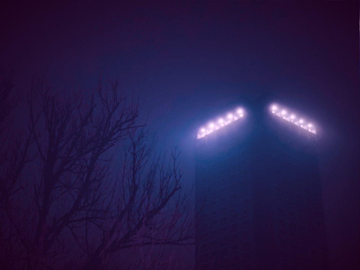 PFT looking sinister. . . . #wku #pft #neoncam #vsco #fog #retrowave #bgky #latenightdrives