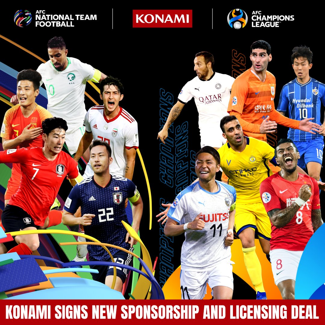 AFC and @Konami extend the partnership for 4️⃣ more years!  This will enable gamers to play the #AsianCup2023, #AsianQualifiers and #ACL in Konami's wide portfolio of football games!  👉