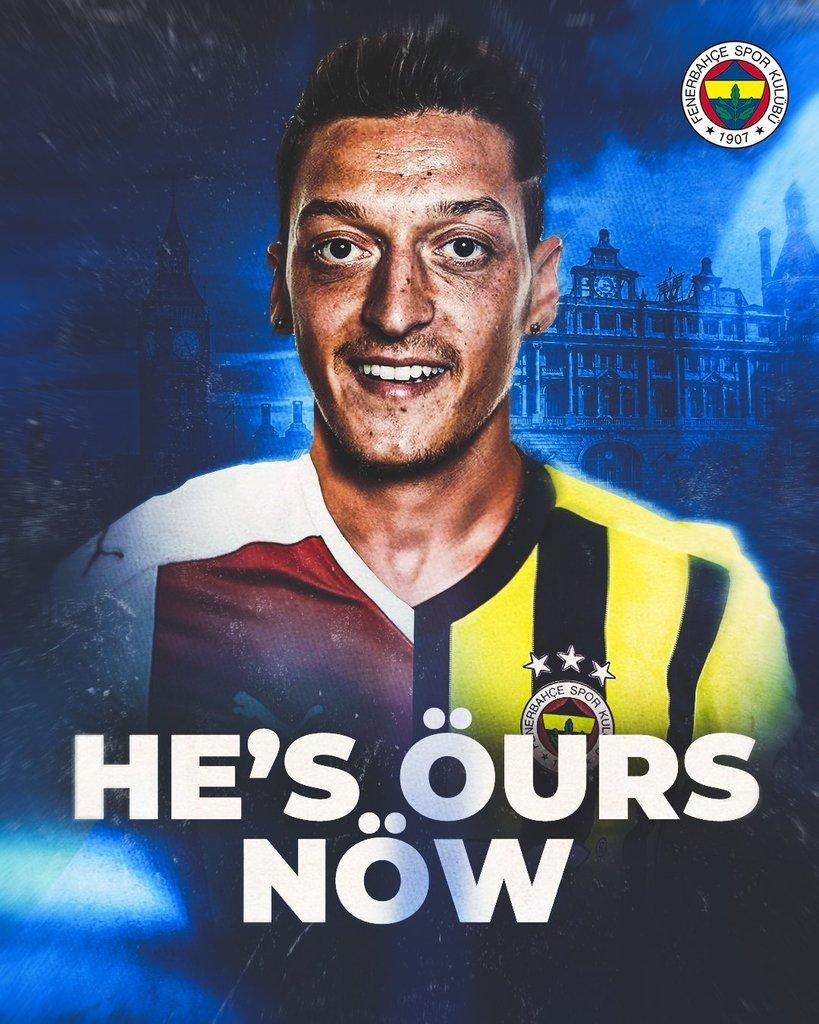 Fenerbahçe officially announced the signing of Arsenal Midfielder, Mesut Özil  #football #soccer #sports #futbol #fifa #sport #premierleague #championsleague #like  #follow #love #seriea #basketball #realmadrid #nike #laliga  READ HERE >>>>>