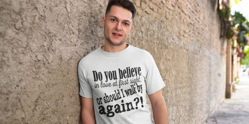 Do you believe in love at first sight? This #funny #quotes design for #tshirts is here   #love #tshirt #etsy #etsyshop