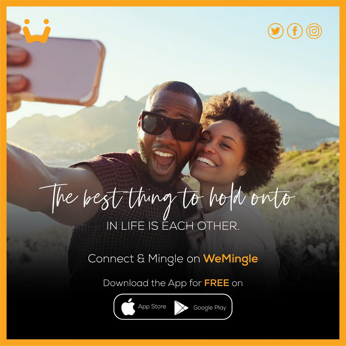 The best thing to hold onto in life is each other.  Meet exciting singles in and around Africa on Africa's #1 dating app   Sign up for FREE and mingle with singles all over the continent.  #dating #love #FindLove #ghanalove #lovemadeinafrica #friendship