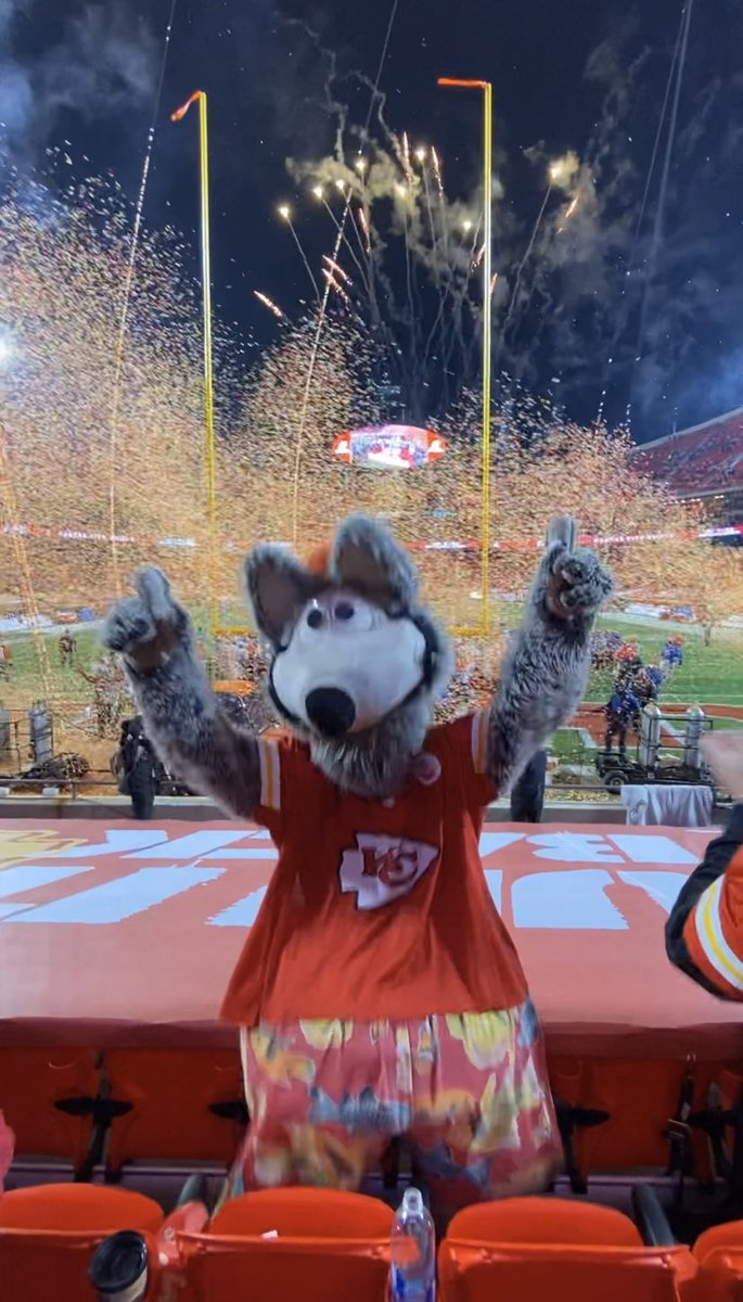 I never get tired of confetti and fireworks! #ChiefsKingdom #RunItBack #AFCChampionship #BackToBack #Mahomes #traviskelce