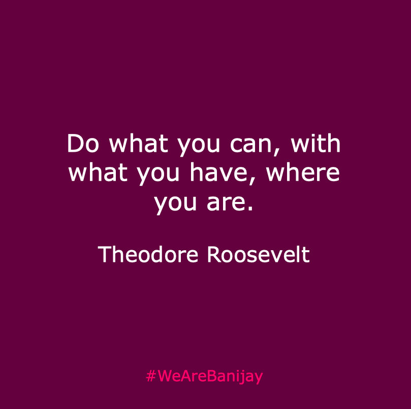 Success comes to those who look for solutions not problems! #MondayMotivation #TheodoreRoosevelt #WeAreBanijay