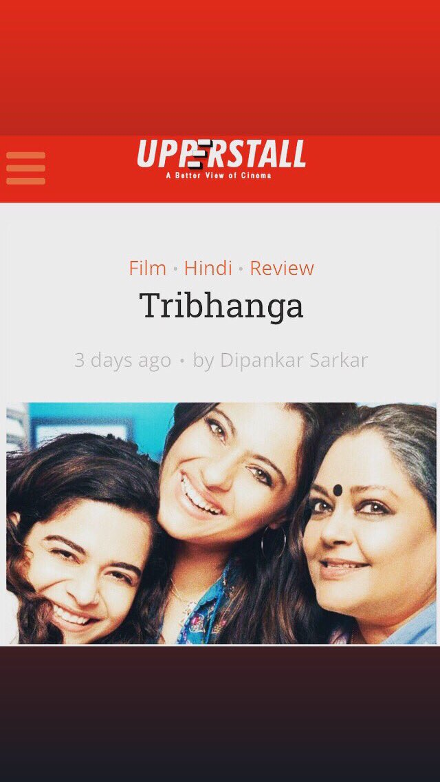 A review of #tribhanga for @upperstall streaming on #Netflix  Thank you @karanbali