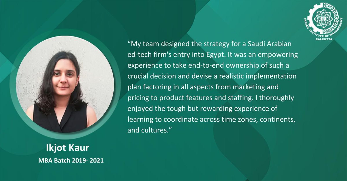 We are delighted to share that Ikjot Kaur has been awarded the Best Team Award, at X-Culture 2020-2b, a global student collaboration project, and competition, for her unique strategic decision making solutions for Nomou, Saudi Arabia. Congratulations Ikjot! https://t.co/p4NuqnN7Sd