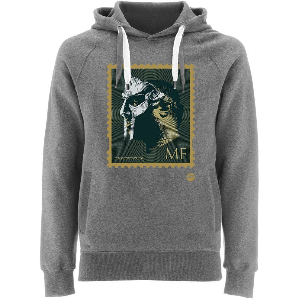 """NOW SHIPPING! MF DOOM Mask Stamp HipHop Black grey hooded Sweater """"Most of my VILLAINS don't appear on no stamps""""  RT #MFDOOMFOREVER  #MFDOOM"""