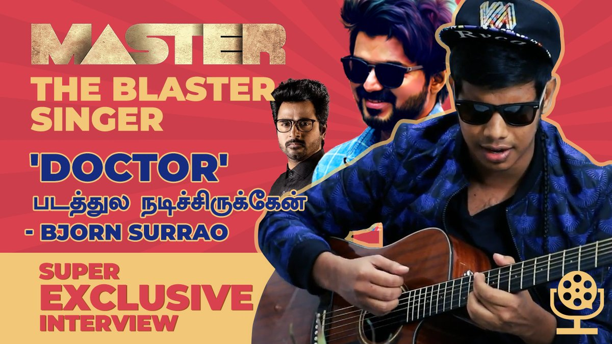 I was Chillin at Alandur! 😎 | Coolest Interview with Bjorn Surrao | #MasterTheBlaster Song Singer  Full video:   #MasterHistoricVictory #Master #MasterTheBlaster