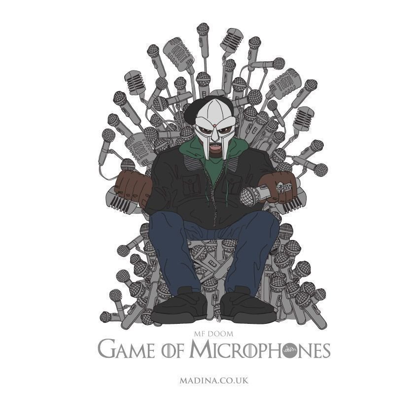 #Hiphop kings and queens take the throne in this #hiphop #GameofThrones mash up! The Game of Microphones A2 Print is available now >>   << #gameofmics #gameofmicrophones #prints #art #design #illustration #fantasy #characters #comic #rap #variant #mfdoom RT