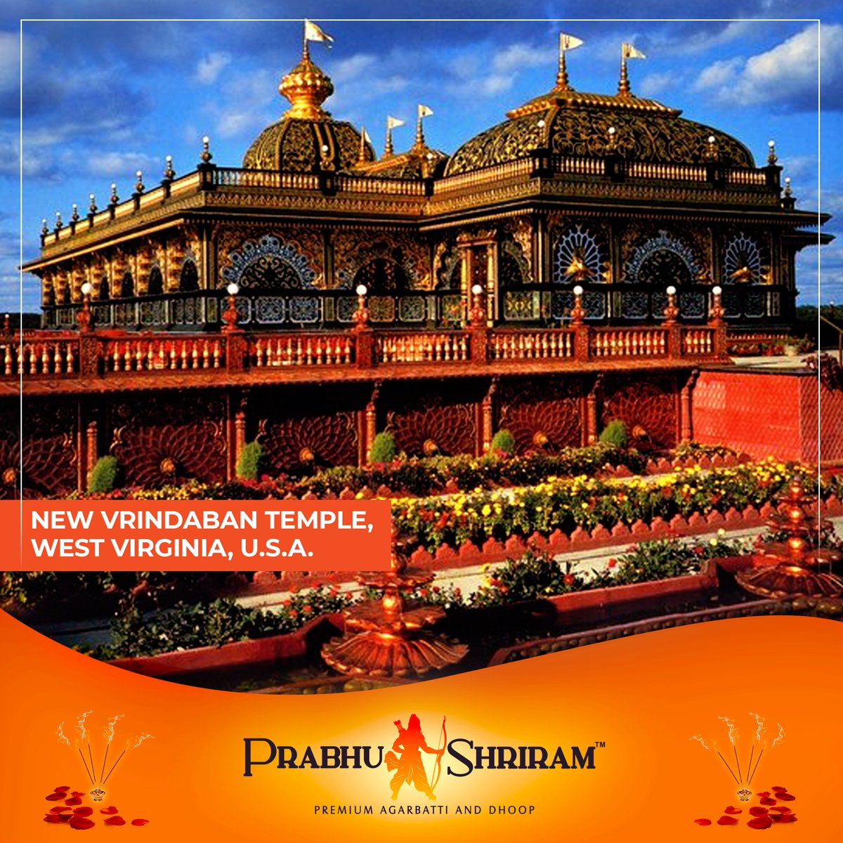 New Vrindaban temple is part of the ISKCON International Community of West Virginia.  #PrabhuShriRamAgarbattiAndDhoop #PrabhuShriRam #Agarbatti #PrabhuShriRamPremiumAgarbatti #AgarbattiAndDhoop #NaturalFragrance #Spiritual #makeinindia #ForeignHinduTemple #VrindabanTemple