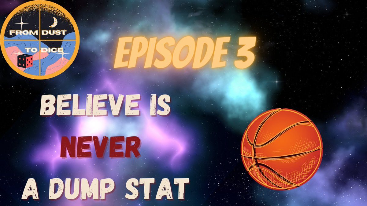 And lets not forget the title of tomorrows episode! #podcast #believe #stats #dnd #spacejam