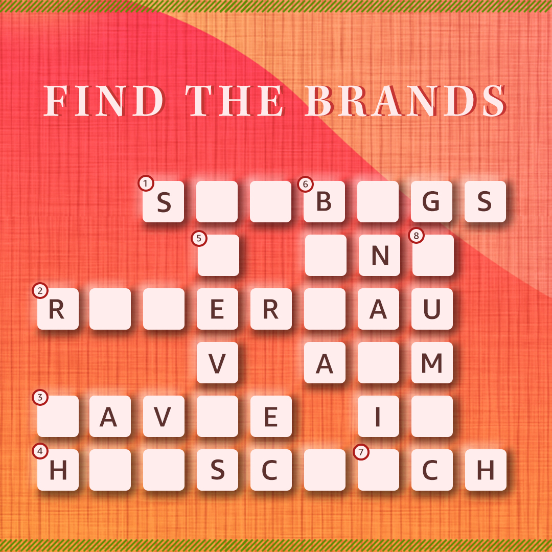 Love brands? Then I bet you won't have any difficulty solving this #FashionCrossword! Share your answers in the comments below.  Hint: Click here for clues:  . . #Fashion #Style #Crossword #WordGame #Mondays #Engagement #AmazonFashion #HarPalFashionable
