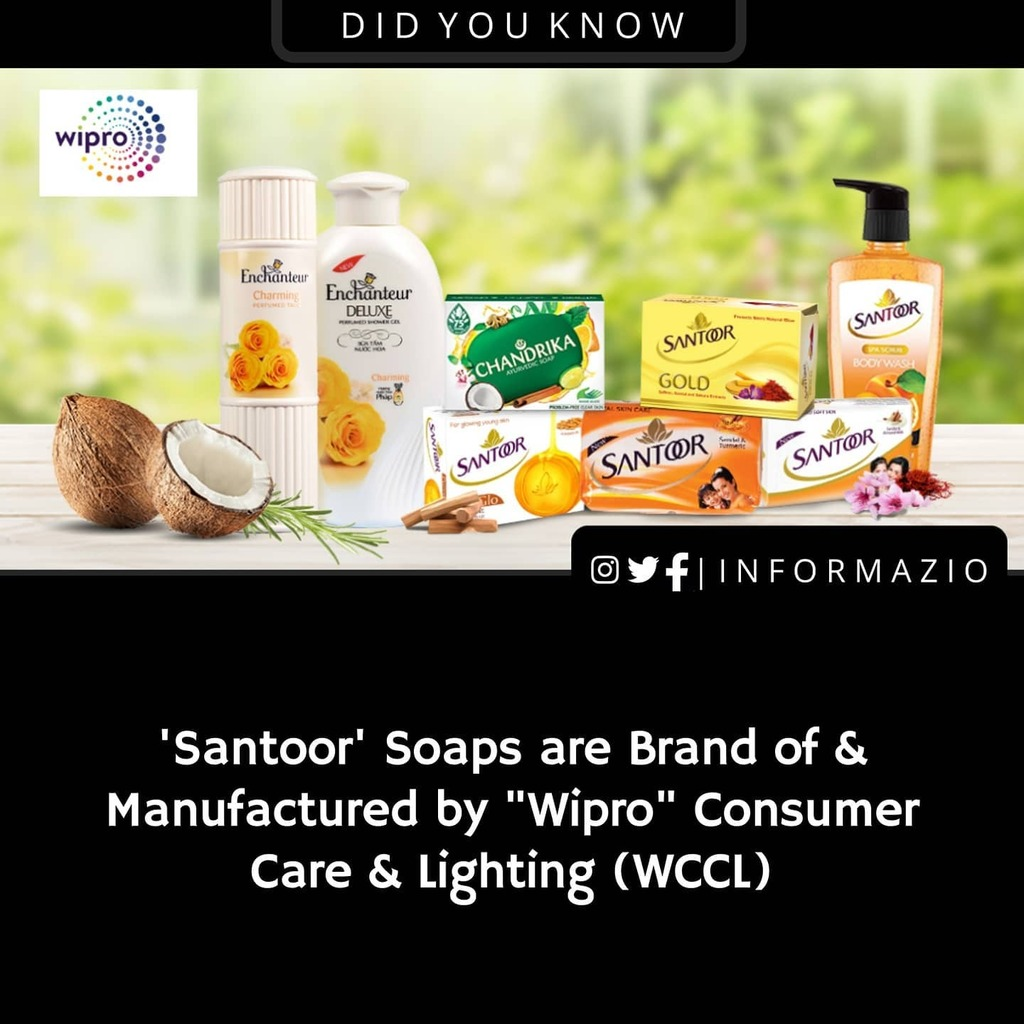 Did you know? . . Never want to miss an update? Follow @informazio_ for Latest News updates, Tech, Covid-19 Updates & Facts .  . #informazio_unknownfacts #fact #facts #didyouknow #santoor #soap #wipro #india #it #company #ind #bangalore #karnataka #daily…