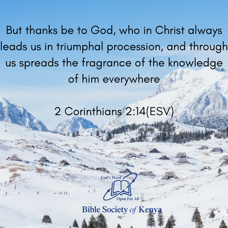 But thanks be to God, who in Christ always leads us in triumphal procession, and through us spreads the fragrance of the knowledge of him everywhere. 2 Corinthians 2:14(ESV) #bibleverse #bible #HappyNewWeek #Godswordistrue #mondaythoughts