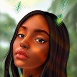 Image for the Tweet beginning: Beautiful pipo #blacksfrican #autodesk #painting