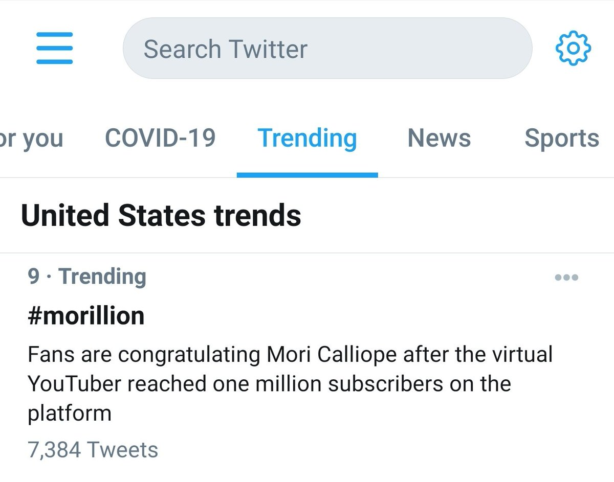 You're trending in the US Calli! #morillion @moricalliope ❤️💀