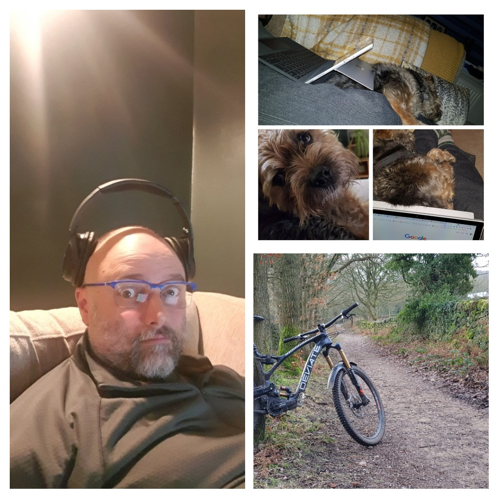 Sums up the weekend. Three years ago Saturday I was discharged from oncology. The ups and downs of mental health, at least this weekend I could see where the top was. Physical health + honest mental health = calmness. #BeKind #mtb #edtech #mentalhealth
