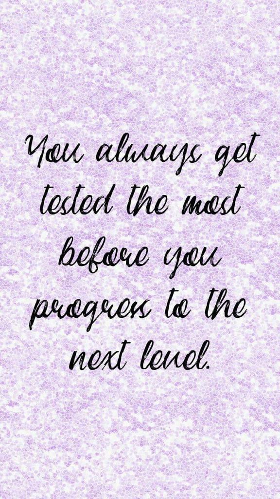 """#MondayMotivation - """"You always get tested the most before you progress to next level. """"  #Mindset #mondaythoughts #MondayVibes #successquotes #newbeginnings #LifeGoesOn #goals #GoalOfTheDay #PositiveVibesOnly"""