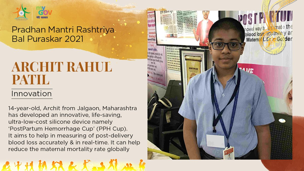 Archit was honoured with the Pradhan Mantri Rashtriya Bal Puraskar 2021 for his excellence in the field of innovation