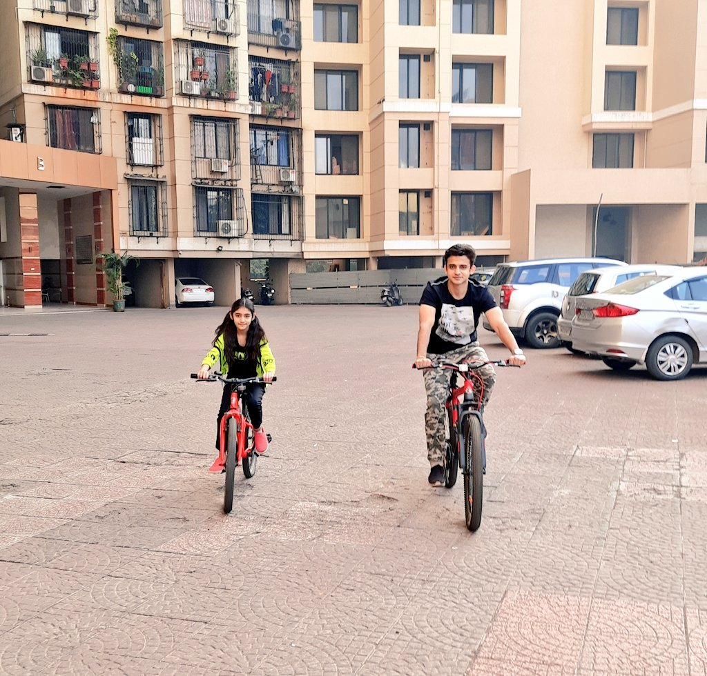 Start your Day with Cycling,Best exercise for Me & My Daughter-RomiitRaaj ❤👊⭐ Stay Fit Stay Happy 😊 #stayfit #healthylifestyle #exercise #happiness #love #fatherdaughter #RomiitRaaj