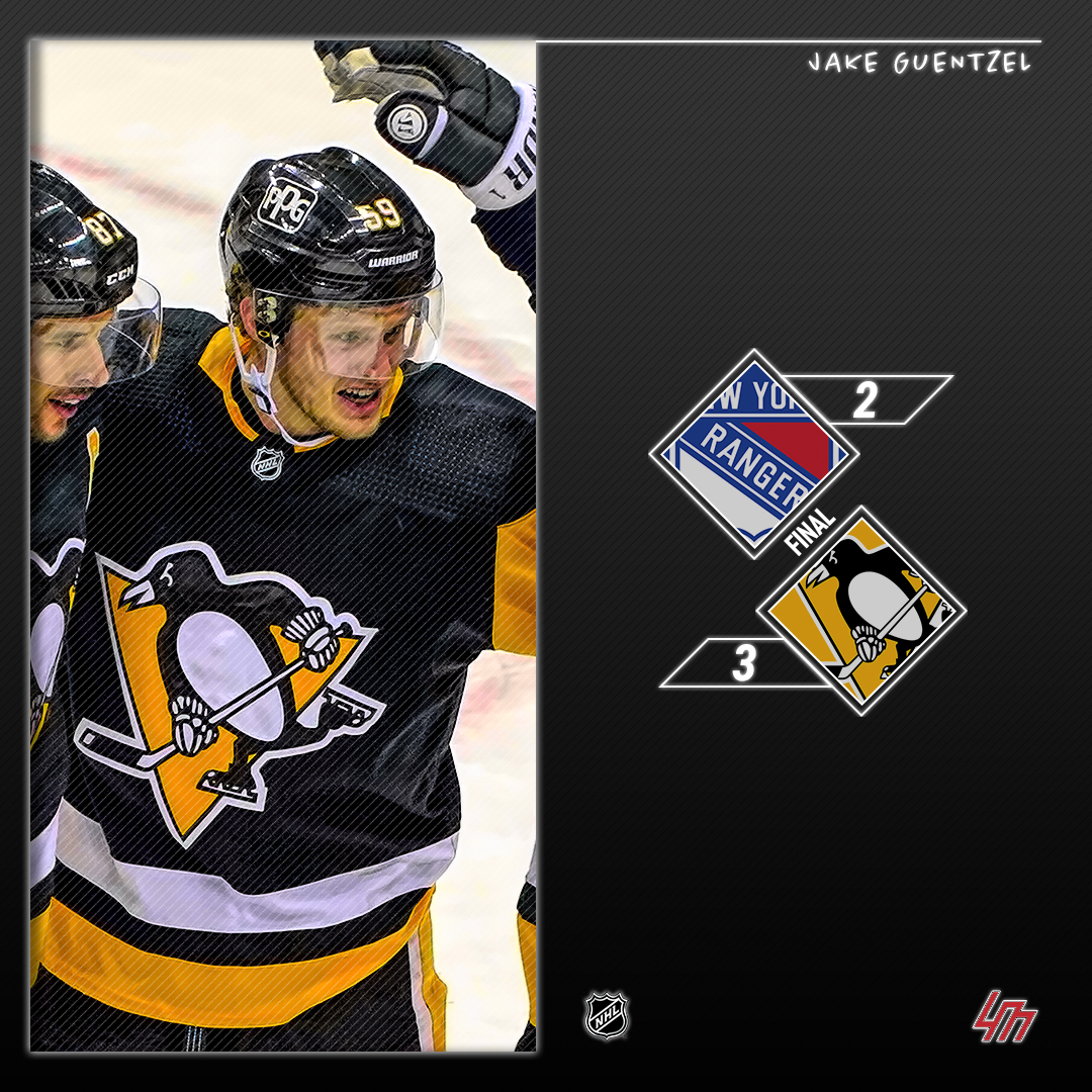🏒 [RESULTATS] Dimanche 24 Janvier 2021  #NYR - #LetsGoPens   ⭐️ Jake Guentzel (PIT) || 1 But, +2  ⭐️⭐️ Bryan Rust (PIT) || 1 But, +1  ⭐️⭐️⭐️ Colin Blackwell (NYR) || 1 But, +1