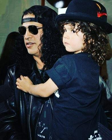 Slash ve oğlu London.