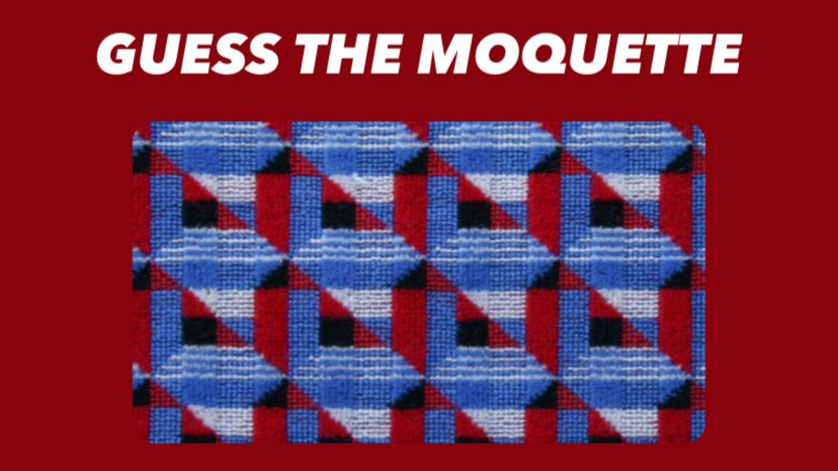 Can you guess which line this moquette design is from? 🤔 #GuessTheMoquette