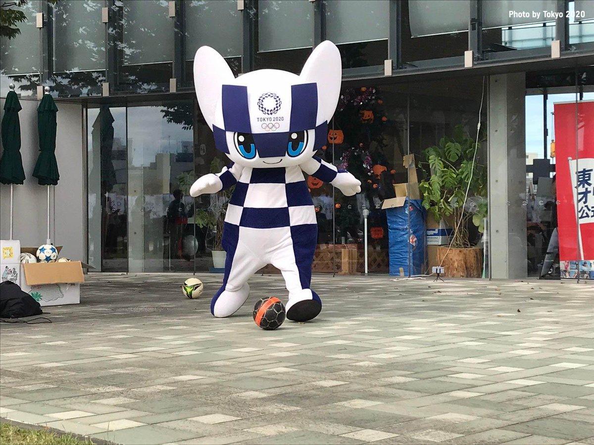Replying to @Tokyo2020: Happy #MiraitowaMonday   #Miraitowa 💗 football @FIFAcom ⚽️  #UnitedByEmotion #Tokyo2020