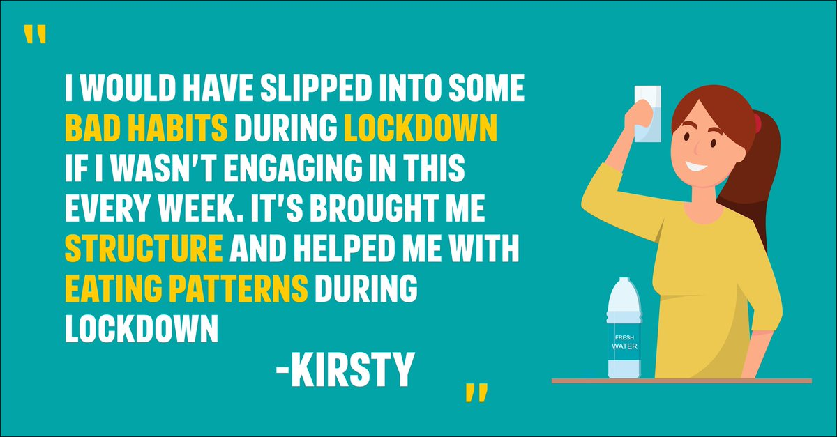 Mondays Manage Your Weight Motivation! Kirsty joined the programme during lockdown, having previously tried Weight Watchers. She managed to lose 6kg with us through adopting a healthy diet and exercising