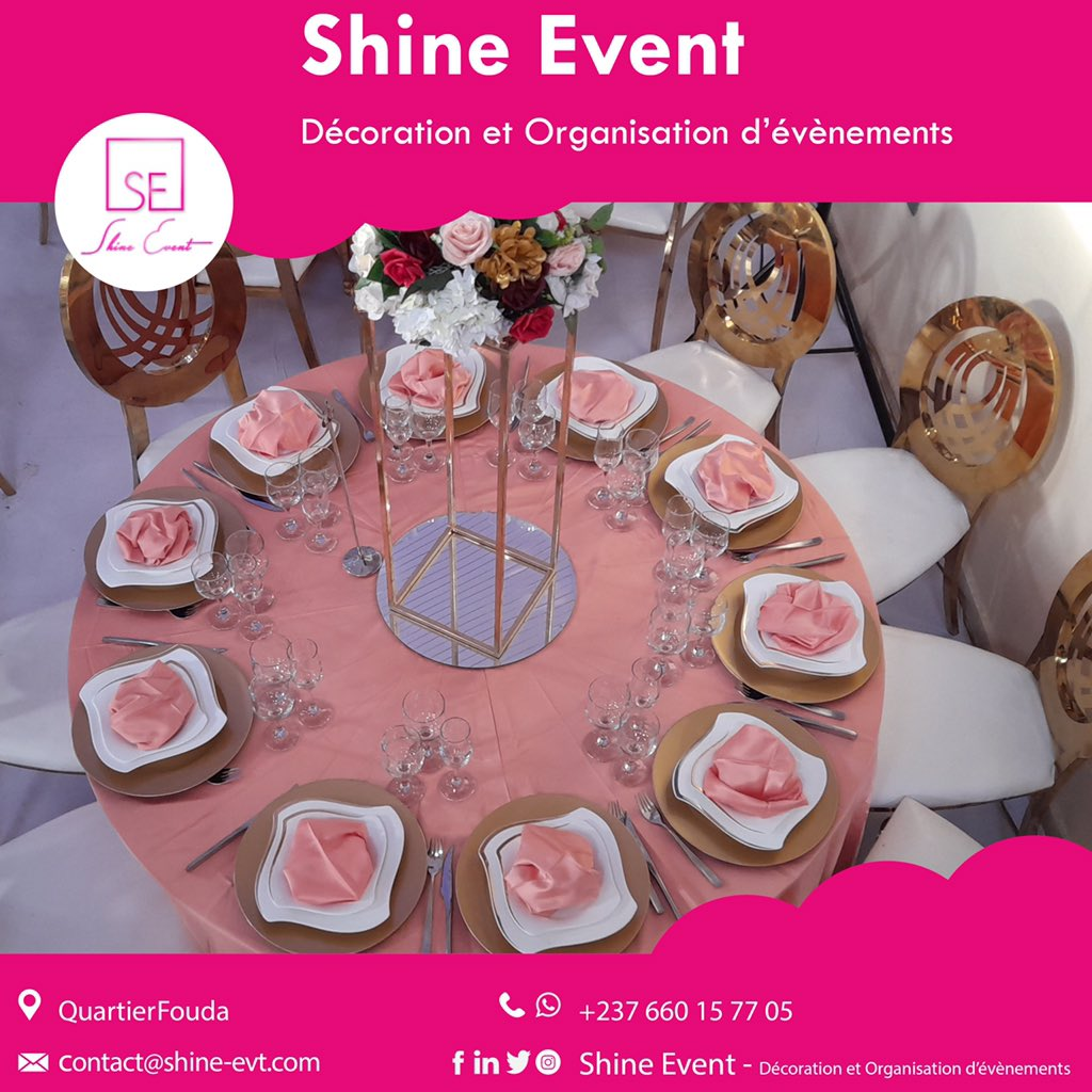 La décoration de table qu'il vous faut pour votre cérémonie 🥰  Info.shinevent@gmail.com +237 662 32 64 54 #happiness #happynewyear  #lovelife #loveyourself #wedding #mariage #décoration #decoration #beauty #beautiful #funny #lol #lmao #lmfao #blingbling  #laugh #laughing