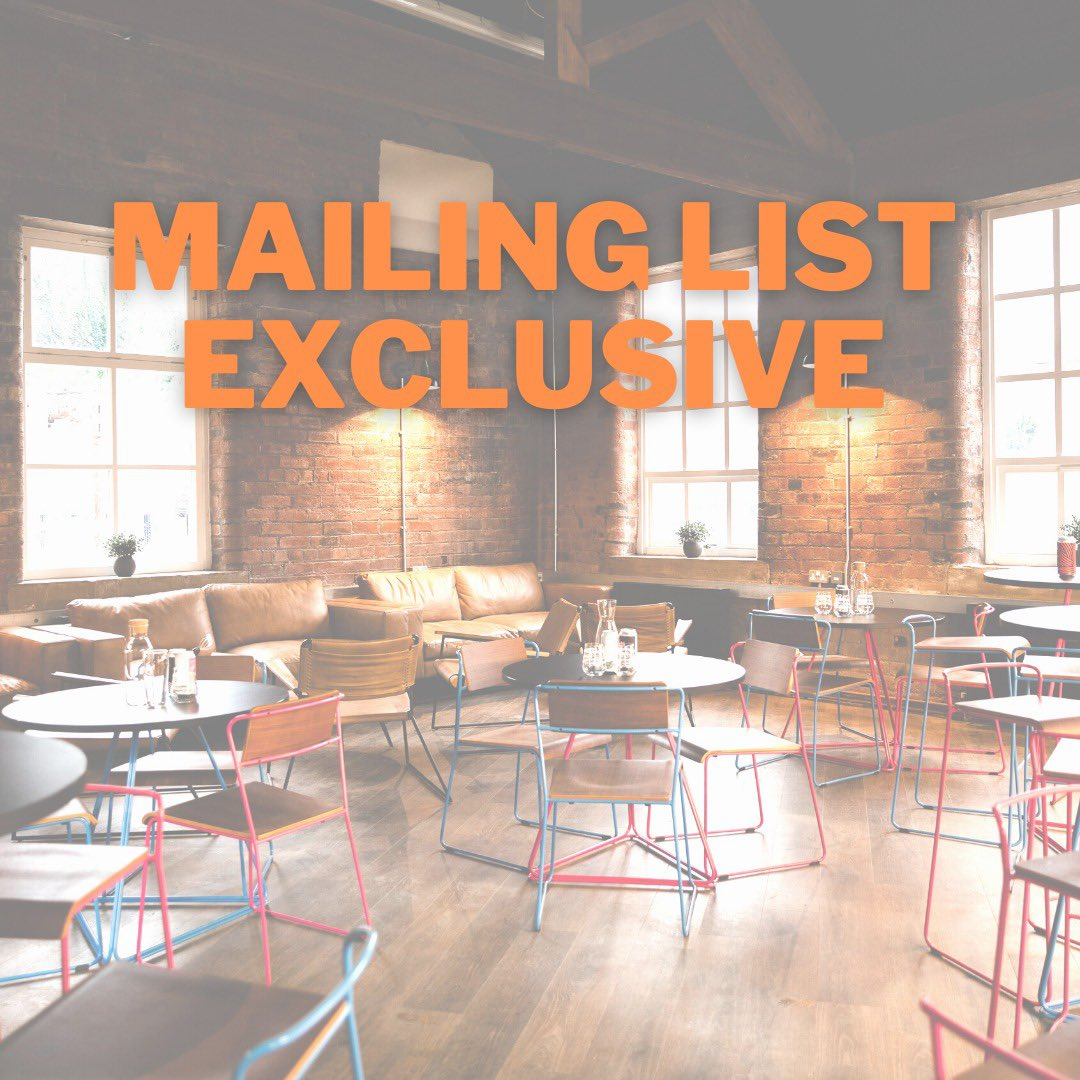 We're running a mailing list only offer this Wednesday. Sign up here mailchi.mp/061f168849ff/j… You've got to be in it, to win it 💪