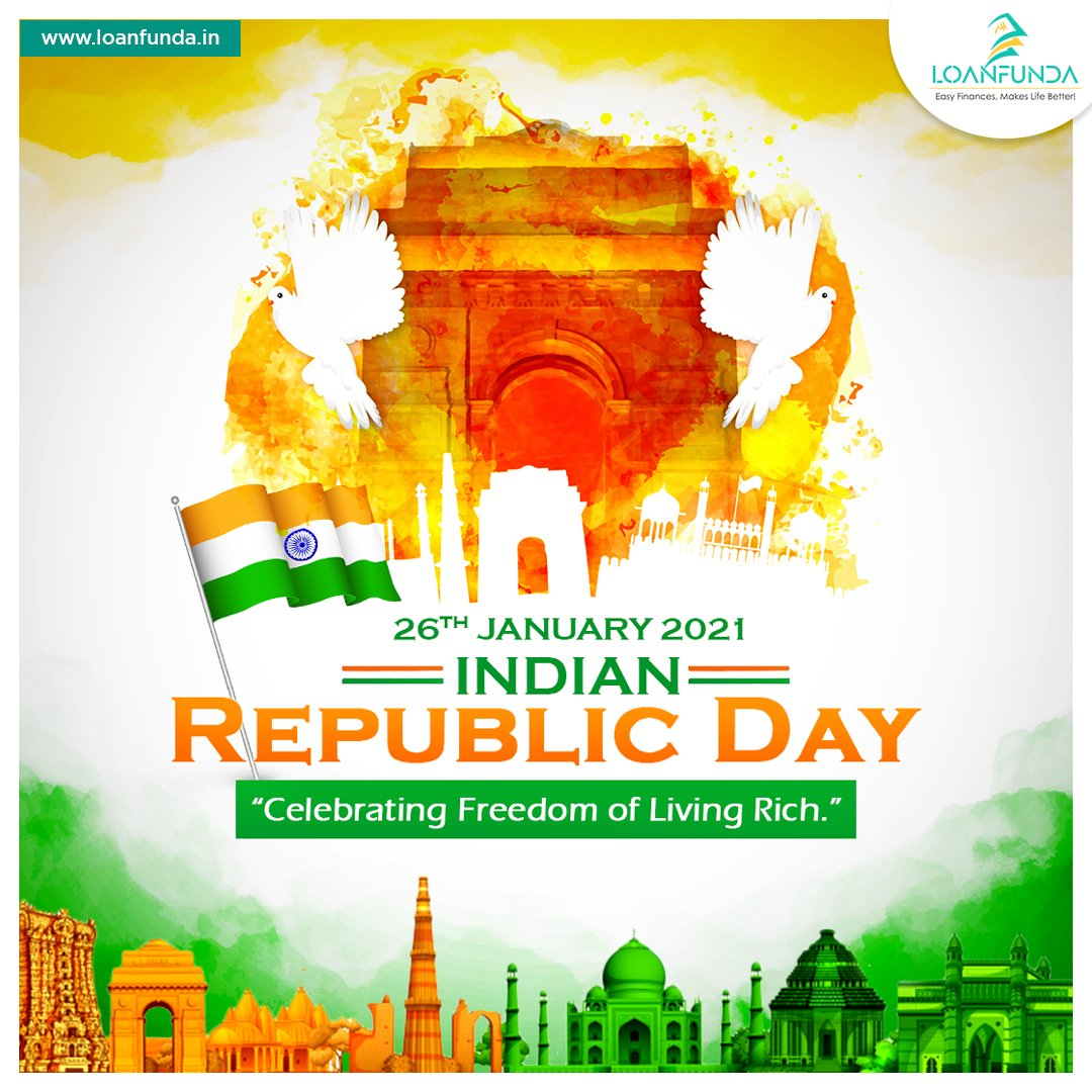 Wishes to Everyone!  Let this #RepublicDay2021 be a memorial with Special Offer on Home Loans. Starts @6.75%*  Connect @Loanfunda     #LoanFunda #loanservices #RepublicDay  #IndianDemocracy #newyear2021