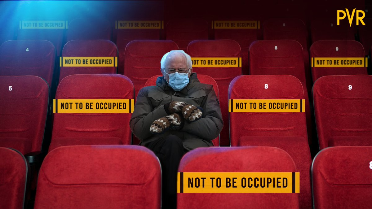 All comfortable, cosy and ready to enjoy a movie or two!  Who all wish they could take his place right now?  #PVRCares