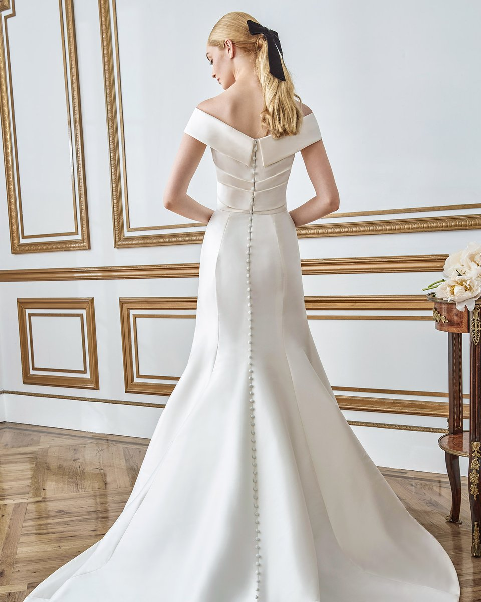 These @SarehNouri gowns are giving us elegant Grace Kelly vibes. Styles REN and EMMA from the Fall 2021 #lovealwayswins collection. Take a closer look at   #Ad #SarehNouri #Wedding #WeddingDress #WeddingGown