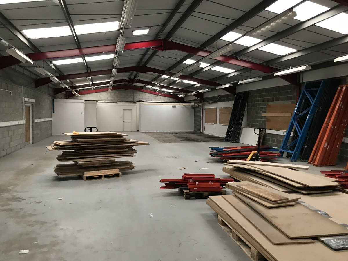 To think it was only a year ago we were planning on making the move to our premises in Newton Abbot. Thanks to the hard work of all the staff they made short work of clearing out the old warehouse.    #Warehouse #NewYear #TB #hardworkpaysoff
