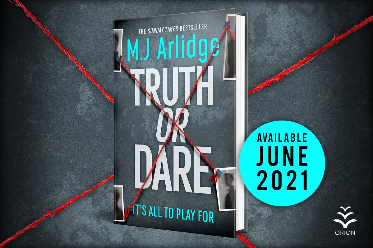 A violent crimewave sweeps through the city and no one is safe. Each crime is a piece of a twisted puzzle - and Helen Grace may be the only one who can put them together...  I'm delighted to share the cover for #TruthOrDare, out in June! Pre-order from