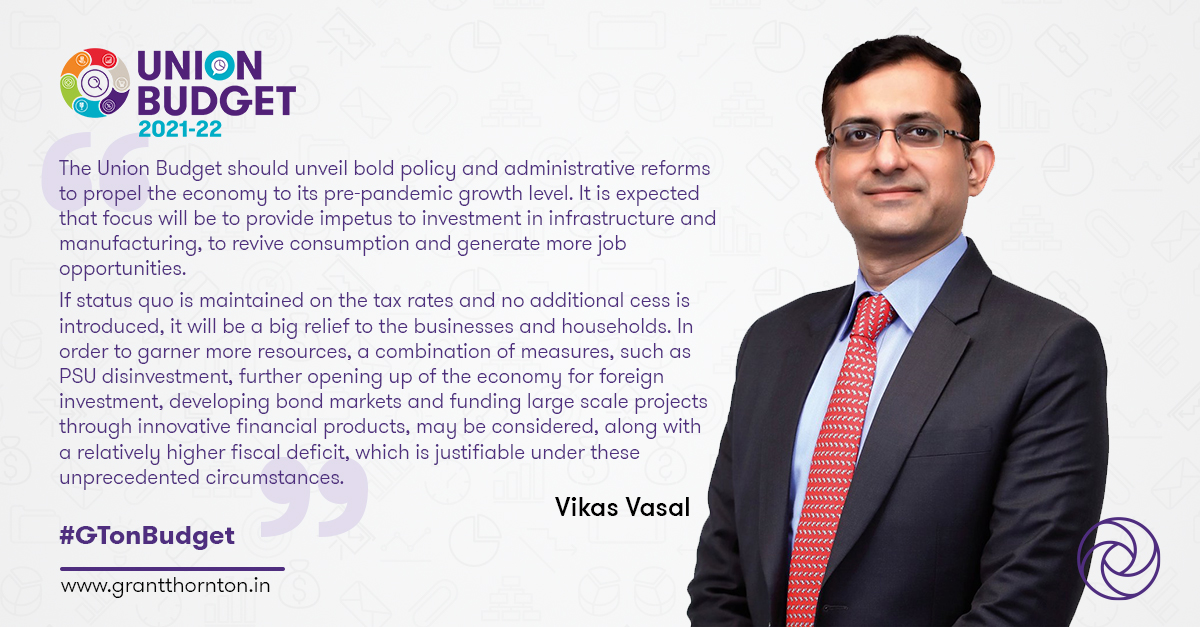 #PreBudgetExpectations | Awaiting bold policy and administrative reforms to propel #economy to its pre #Covid_19 level: @VikasVasal   Read our expectations from #UnionBudget2021 here:   #GTonBudget #Budget2021