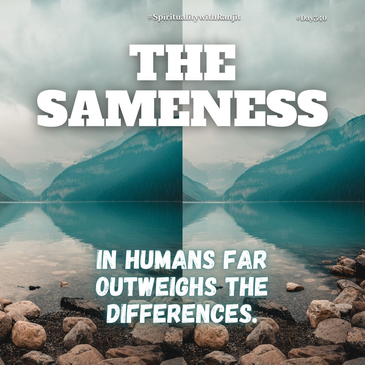Read in today's post about the sameness in the human race and its role in spirituality.  Do read all the messages in this thread! Retweet if you like. (1/n)  #Post340 #SpiritualitywithRanjit #Sameness #Oneness #Unity #HumanRace #InterfaithHarmony #Differences
